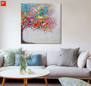 Abstract Handmade Wall Art Colorful Tree Oil Painting pictures & photos