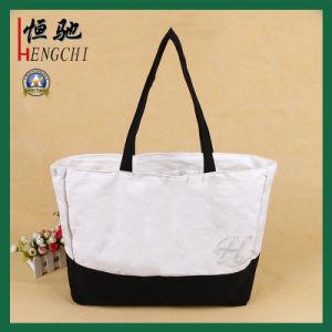 Mixed Color Cotton Canvas Fashion Ladies Tote Handbag pictures & photos