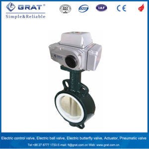 Wcb Body PTFE Seal 150 Degree Electric Butterfly Valve pictures & photos