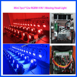 LED Moving Head 7PCS*12W RGBW Wash Light pictures & photos