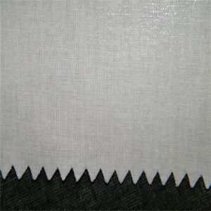 High Quality HDPE Coating Shirt Collar Fusing Interlining 100% Cotton pictures & photos