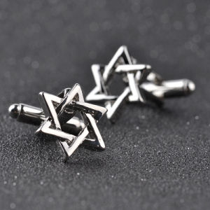 New Silver Zinc Alloy Star of David Men′s Cuff Links Business Gift Cufflinks pictures & photos