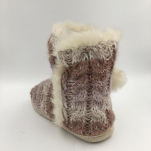 Multi Colour with Pompom Knit Indoor Boots for Lds pictures & photos