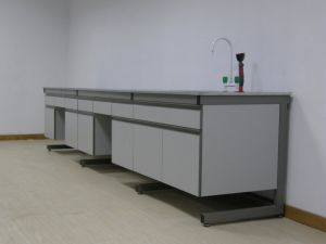 Modern Wood and Steel Lab Table (For Project in Damman) pictures & photos