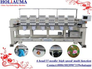 Holiauma Happy Business Embroidery Machine for Hat Tubular Flat Embroidery Machine 6 Head 15 Needle Ho1506 pictures & photos