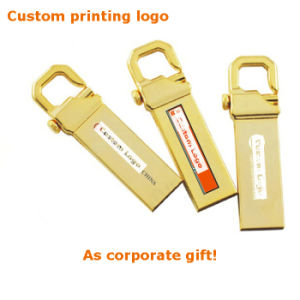 Custom 8/16/32/64/128GB Gold Metal Hook USB3.0 Pendrive (YT-3258-03) pictures & photos