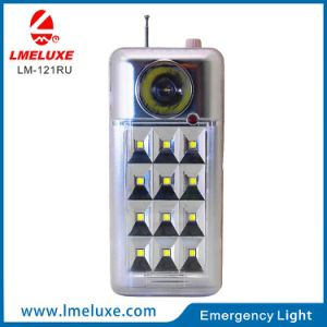 USB and FM Radio Protable Rechargeable LED Emergency Light pictures & photos