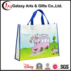 Recyclable Durable Customized PP Handle Laminated Shopping Bag for School