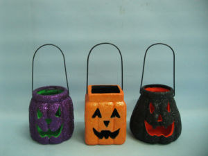 Halloween Pumpkin Ceramic Arts and Crafts (LOE2379-9.5z) pictures & photos