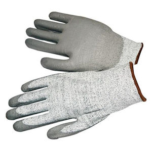 13 Gauge Knitted Cut Level 3 Coated PU Palm Gloves pictures & photos