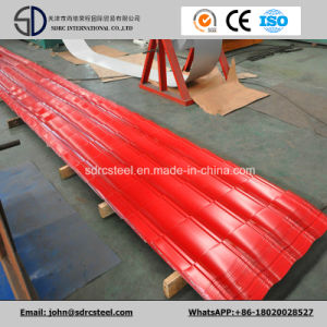 Prepainted Gi Steel Coil / PPGI / PPGL Color Coated Galvanized Corrugated Metal Roofing pictures & photos