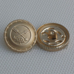 Matt Gold New Design Alloy Shank Button for Coat pictures & photos