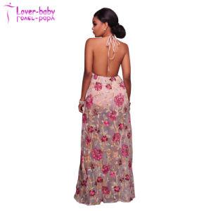 Fashion New Print Slit Ladies Long Dresses (L51423) pictures & photos