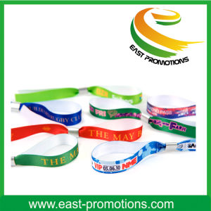 Promotional Fabric Embroidery Fabric Woven Bracelet/Wristband pictures & photos