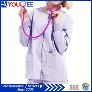 Custom Hospital Healthcare Workwear Warm up Snap Front Scrub Jacket (YHS114) pictures & photos