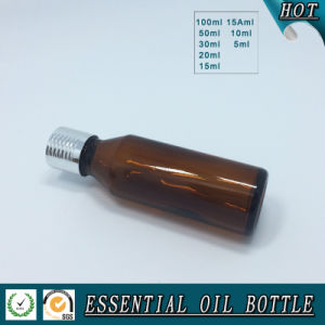 European Amber Glass Essential Oil Bottle with Cap, Dropper, Pump pictures & photos
