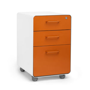 3 Drawer Office Metal Mobile Pedestal pictures & photos