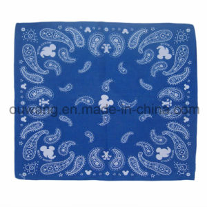Custom Logo Printing Multifunctional Magic Cotton Square Paisley Bandana pictures & photos