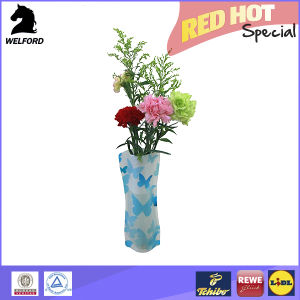 Reusable Collapsible Foldable Plastic Flower Vase pictures & photos