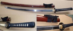 Red Handmade 1065 High Carbon Steel Katana Sword pictures & photos