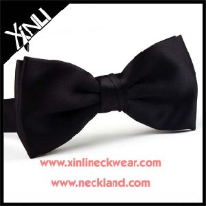 100% Silk Woven Custom Wholesale Black Bow Tie pictures & photos