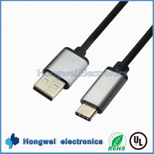 Retractable Big Current Fast USB 2.0 to Type-C USB Cable pictures & photos