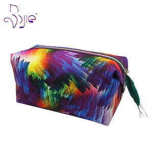 Rectangle Shaped Painting Pattern Cute Multifunction Beauty Bag