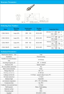Flush PNP Nc 1mm Sensing Distance M5 Inductive Proximity Sensor pictures & photos