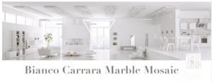 Carrara White Mosaic Tile Marble (FYST203) pictures & photos