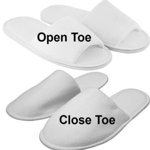 Hotel Slipper with Customized Logo Embroidery or Printing (DPF10326) pictures & photos