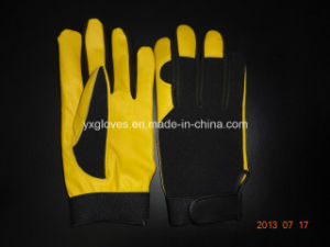 Work Glove-Working Leather Glove-Safety Glove-Mechanic Glove-Labor Glove-Leather Glove pictures & photos