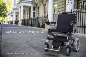 E-Throne Folding Wheelchair, Portable Power Wheelchair, 8inch, 10inch, 12inch pictures & photos