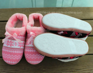 Women′s Knit Indoor Slippers Fashion Ladies Warm Slipper pictures & photos