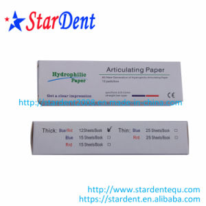 Hydrophilic Thickening Red/Blue Straight Type Dental Articulating Paper of Lab Hosptial Medical Surgical Diagnostic Equipment pictures & photos