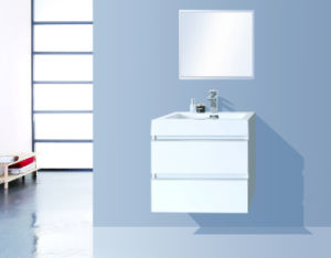 Sanitary Ware Furniture Bathroom Cabinet (Luxury double drawers) Glossy White