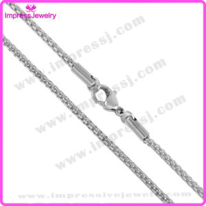 Wholesale Jewelry China Silver Tone Box Chain Stainless Steel Chain pictures & photos