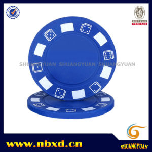 7.2g One Color Clay Poker Chip with Customize Logo Printed on It (SY-B01-1) pictures & photos