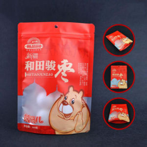 Customer Print Food Grade Plastic Bag Round Bottom Stand up Pouch with Zipper pictures & photos