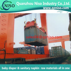 Sanitary Napkin Raw Material/Fluff Pulp + Sap Absorbent Paper pictures & photos