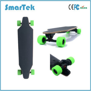 Smartek Dual Drive 4 Wheels Electric Wooden Skateboard Gyropode with Remote Control Portable Longboard Electric Seg Way Style Cool Style Scooter S-019 pictures & photos