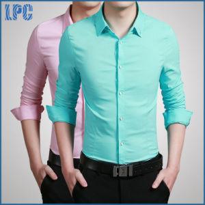 Blue Cotton Fashion Men′s Business Shirt pictures & photos