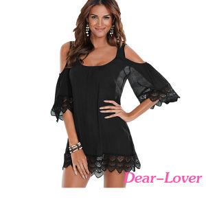 Black Lacy Crochet Beachwear pictures & photos