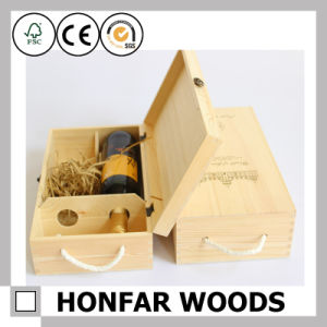 2 Bottles Wooden Wine Box Packaging Box Gift Box pictures & photos