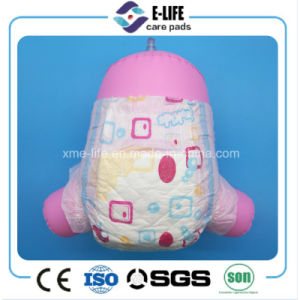 Magic Tape Soft Elastic Waist Baby Diaper with Cheap Price pictures & photos