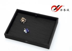 Black Silk Cotton Jewelry Display Tray with Black and White Pad pictures & photos