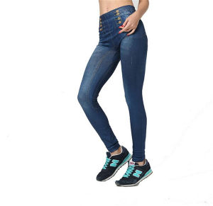 2017 The Latest Hot Sale Summer Thin Skinny Jeans Leggings (17007) pictures & photos