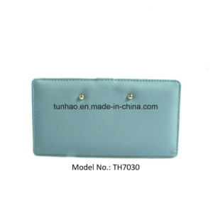 Snap Women Wallets Smooth Clutches with ID Window Back Zip Coin Pocket