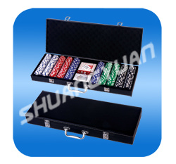 500PCS Poker Chip Set in Leather Case pictures & photos