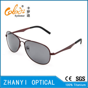 New Arrival Titanium Sunglass for Driving with Polaroid Lense (T3026-C4)
