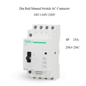 4p 25A Ict Manual Control Household Electrical AC Contactor pictures & photos